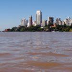Concentración de glifosato en las aguas del Paraná