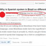 Qué raro se habla en Brasil…